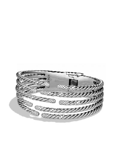 David Yurman Willow Five-Row Bracelet with Diamonds