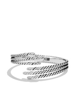 David Yurman Willow Open Three-Row Bracelet with Diamonds