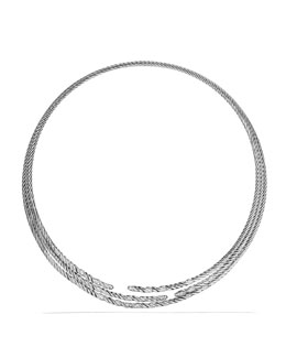David Yurman Willow Three-Row Collar Necklace with Diamonds