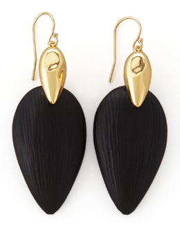 Alexis Bittar Neo Boho Lucite Marquise Earrings, Black