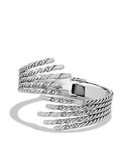 David Yurman Willow Open Five-Row Bracelet with Diamonds