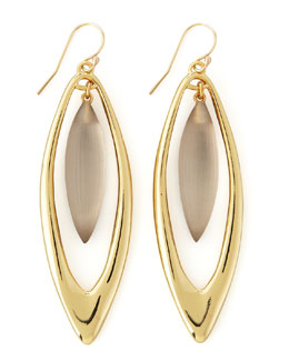 Alexis Bittar Neo Boho Large Marquise Drop Earrings