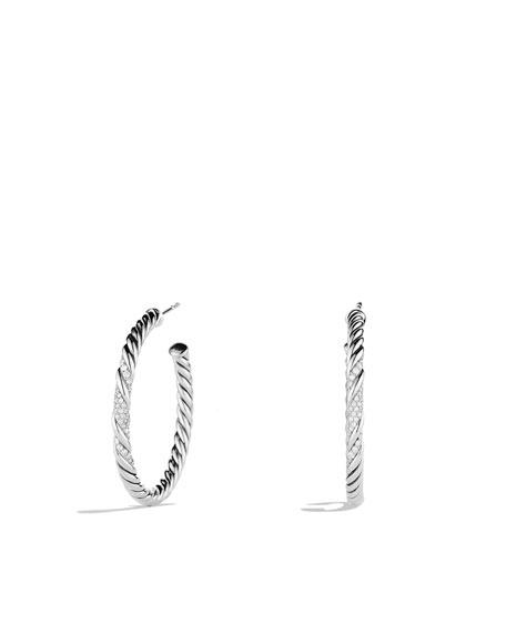Willow Medium Hoop Earrings with Diamonds