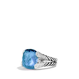 David Yurman Color Cocktail Ring with Blue Topaz and Diamonds