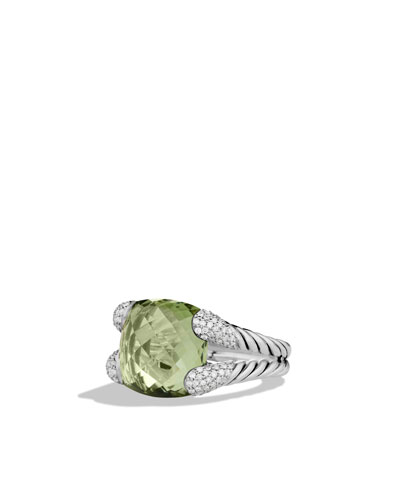 David Yurman Color Cocktail Ring with Prasiolite and Diamonds