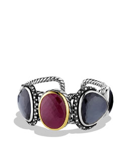 David Yurman Moonlight Cuff with Ruby, Black Orchid, Diamonds, and Gold