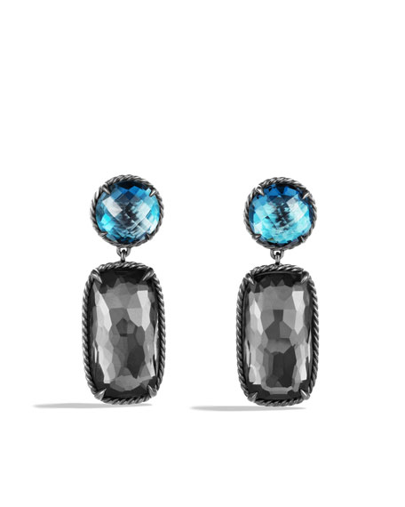 David Yurman Grisaille Earrings with Black Orchid and