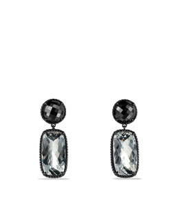 David Yurman Grisaille Earrings with Crystal and Hematine