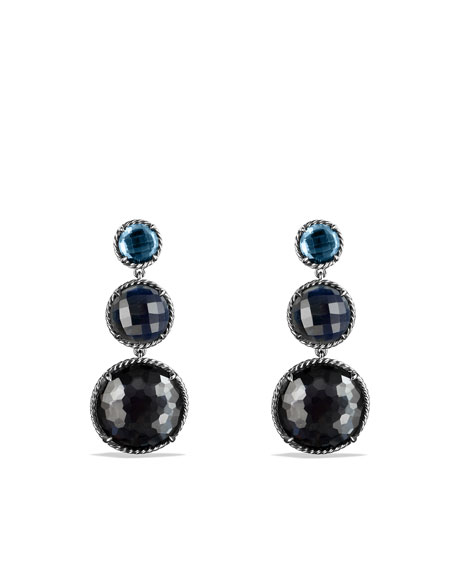 David Yurman Chatelaine Triple Drop Earrings With Hematine