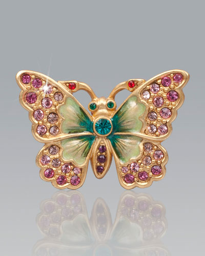 Jay Strongwater Angelly Petite Butterfly Pin