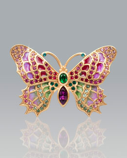 Jay Strongwater Irie Embellished Butterfly Pin