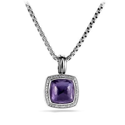 David Yurman Albion Pendant with Black Orchid and Diamonds