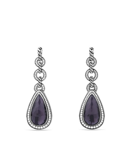 David Yurman Anjou Drop Earrings with Black Orchid