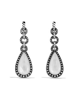 David Yurman Anjou Drop Earrings with Moon Quartz and Diamonds