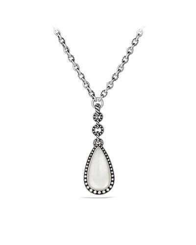 David Yurman Anjou Necklace with Moon Quartz and Diamonds