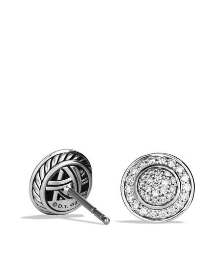 Cerise Mini Earrings with Diamonds