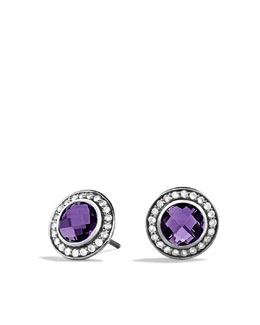 David Yurman Cerise Mini Earrings with Amethyst and Diamonds