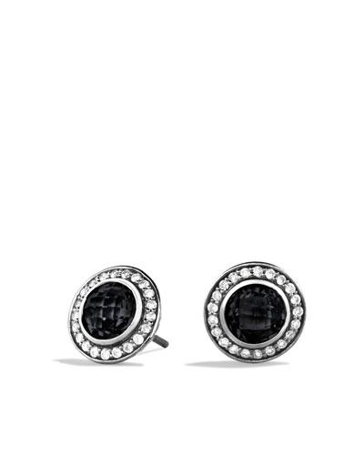 David Yurman Cerise Mini Earrings with Black Onyx and Diamonds