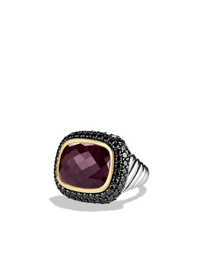 Waverly Limited-Edition Ring with Ruby, Black Diamonds, and Gold