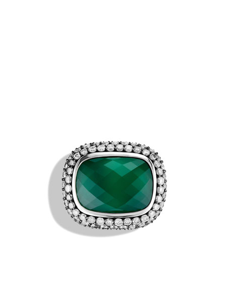 Waverly Limited-Edition Ring with Green Onyx and Gray Diamonds