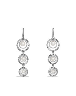 David Yurman Cable Pearl Triple-Drop Earrings