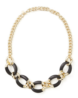 Alexis Bittar Neo Boho Lucite Necklace, Black