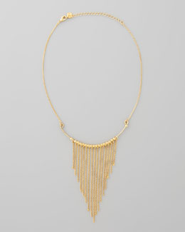 Jules Smith Chained to You Fringe Necklace