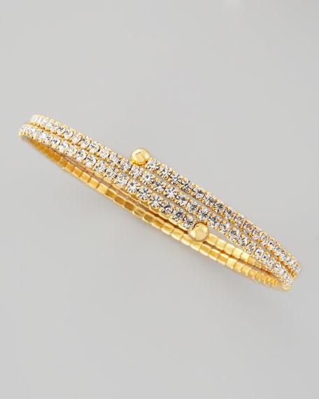 Double-Wrap Crystal Bracelet