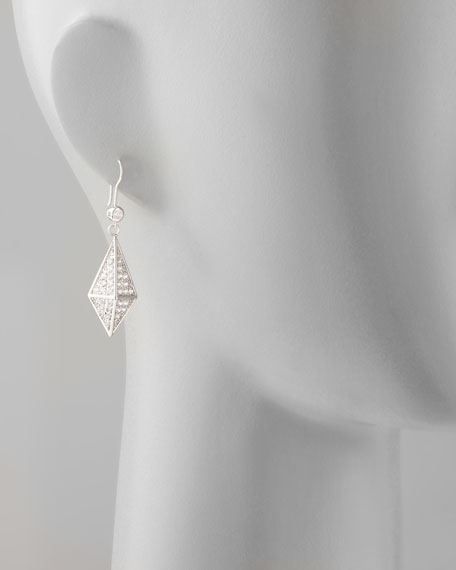 Gwen Crystal Drop Earrings, Rhodium