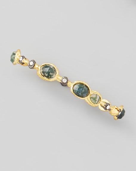 Lace Moss Agate Hinge Bracelet