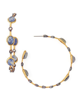 Alexis Bittar Sodalite-Doublet Lace Hoop Earrings