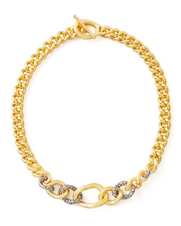 Alexis Bittar Single-Strand Chain Link Necklace