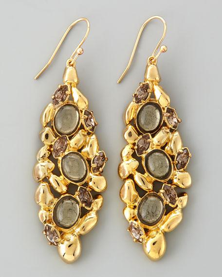 Pyrite-Doublet Drop Earrings