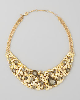 Alexis Bittar Large Flex Pyrite Bib Necklace