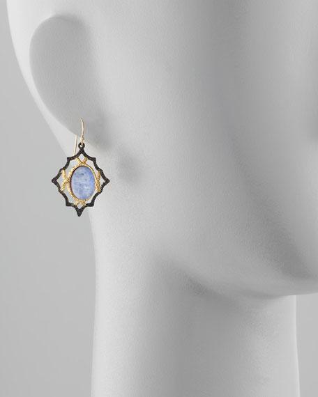 Lace Wire Sodalite Earrings