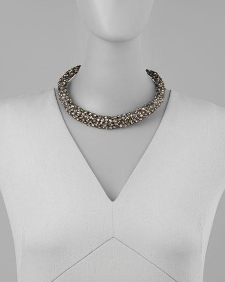 Nova Crystal Hinge Collar Necklace