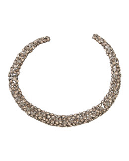Alexis Bittar Nova Crystal Hinge Collar Necklace