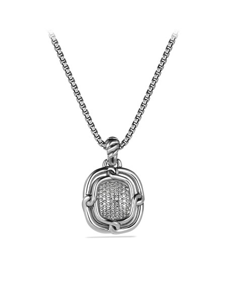 Labyrinth Large Pendant with Diamonds and Gold