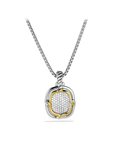 David Yurman Labyrinth Large Pendant with Diamonds and Gold