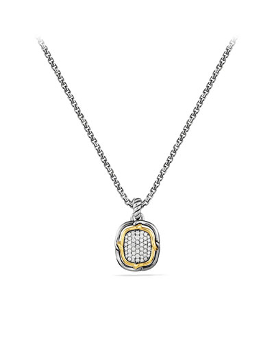 David Yurman Labyrinth Small Pendant with Diamonds and Gold