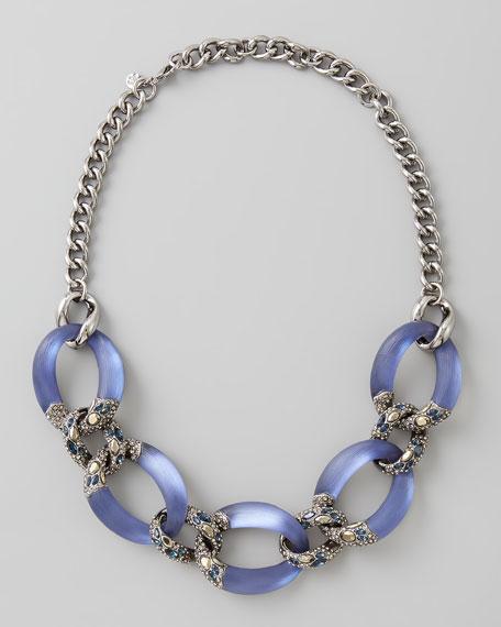 Neo Boho Lucite Necklace, Ultramarine