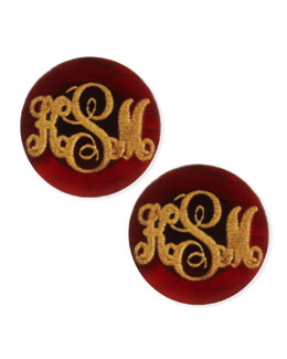 Moon and Lola Providence Script Monogrammed Acrylic Stud Earrings