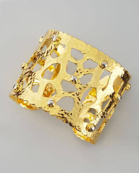18k Gold Cutout Cuff Bracelet
