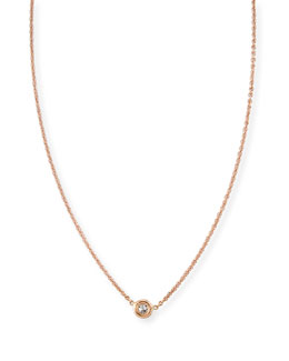 Roberto Coin 18k White Gold Single Diamond Necklace