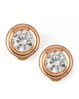 Roberto Coin 18k Rose Gold Diamond Solitaire Stud Earrings