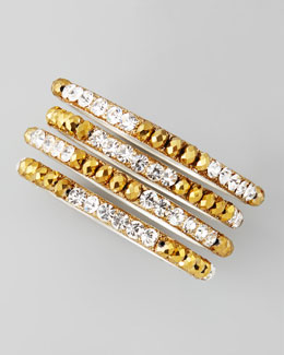 Chamak by Priya Kakkar Set of 4 Bead & Crystal Glitter Bangles