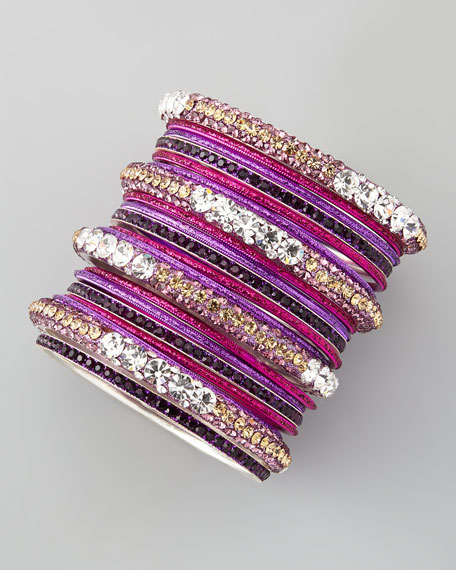 Set of 20 Glitter & Crystal Bangles