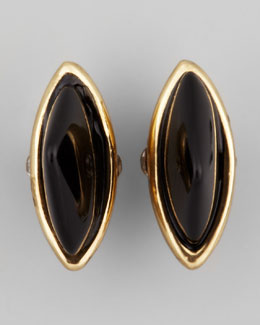 House of Harlow Rock Out Arrowhead Studs, Gold/Black Onyx