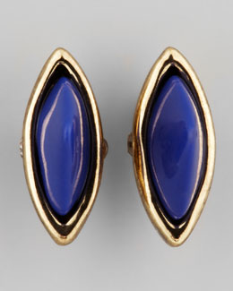 House of Harlow Rock Out Arrowhead Studs, Gold/Lapis