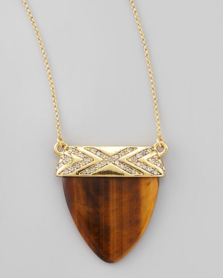 Interlude Tiger's Eye Pendant Necklace